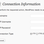 Wordpress not Updating – Asking for FTP Details – Fixed